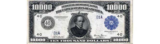$10000 Federal Reserve Note 1918 Series