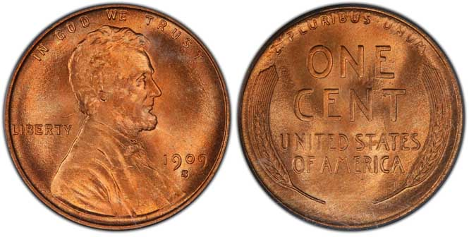 1909 S Lincoln Wheat Penny MS67+RD