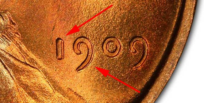 1909 VDB Doubled Die Obverse Lincoln Wheat Penny MS67+RD