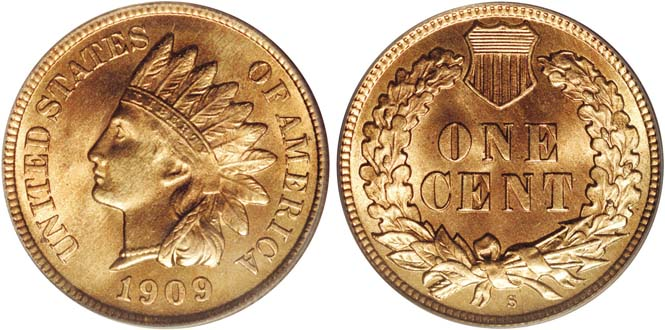 1909 S Indian Head Penny MS67RD
