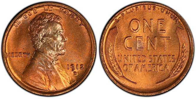 1912 D Lincoln Wheat Penny