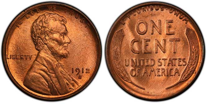 1912 S Lincoln Wheat Penny