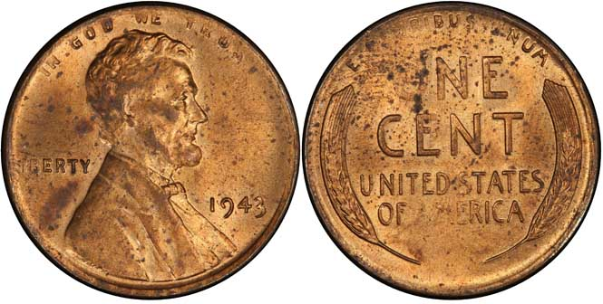 1943 Lincoln Wheat Penny MS63RD