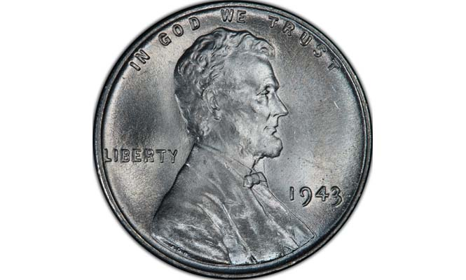 1943 Steel Lincoln Wheat Penny