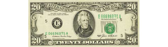 1985 $20 Doubled Serial Number Printing Error