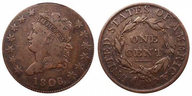 Classic Head Large Cent - Reverse and Obverse