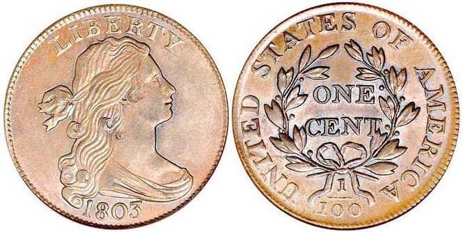 Draped Bust Large Cent - Reverse and Obverse