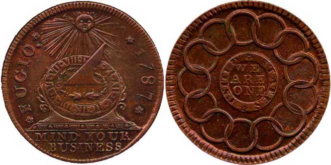 Fugio Cent - Reverse and Obverse